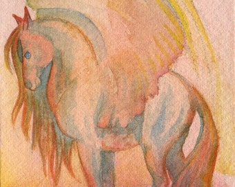 Sunset Pegasus ACEO Print