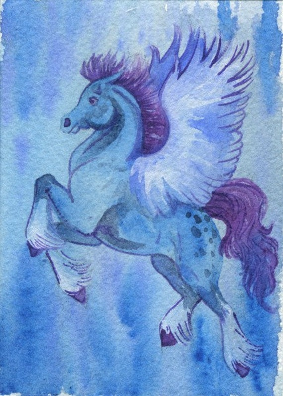 Blue Pegasus ACEO Print