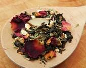 1oz English Gardens Black Tea Blend All Natural USDA Certified Organic rose rosemary citrus