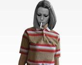 Margot Tenenbaum Striped Izod Lacoste Tennis Shirt, Size 20/Small