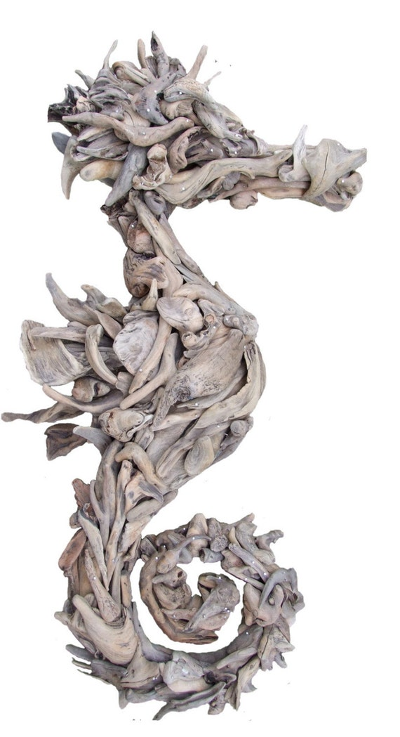 Items similar to driftwood seahorse medium on etsy for Art sites like etsy
