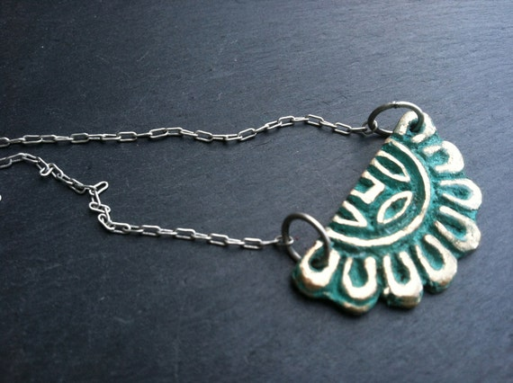 SALE Indian Floral Necklace- Mini