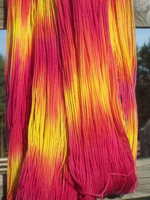 Merino/Cashmere/Nylon Special Delivery Sock Yarn 435 yds -Tequila Sunrise