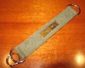 Army Green Key Fob - Key Chain - Key Ring - made using Military Fabric