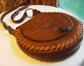 brown leather Pocahontas purse