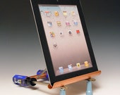 iPad stand. Fits ANY iPad. iPad Air. iPad Air2. Handmade from repurposed tools. Gift for guys. FAST SHIPPING. 145