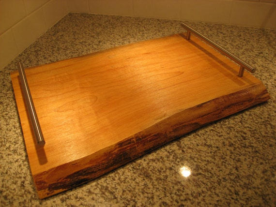 Live Edge Maple Serving Tray