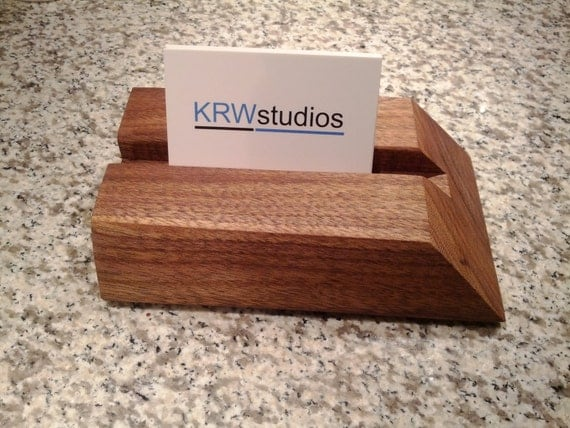 Live Edge Black Walnut Business Card Holder