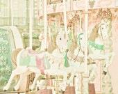Dreamy Carousel Part 2  8 x 8 Fine Art Photograph
