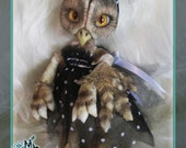 Hoot the Owl - ball jointed doll BJD -  Custom Color