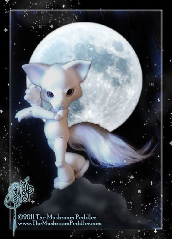 Howl the Wolf  - ball joint doll BJD -  Blank White -Free Shipping