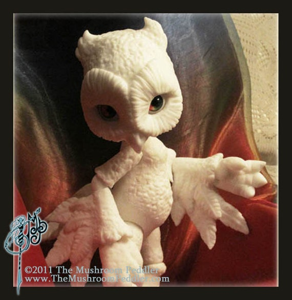 BIRTHDAY Special Surprise - Hoot the Owl - ball joint doll BJD - BLANK - limited number available