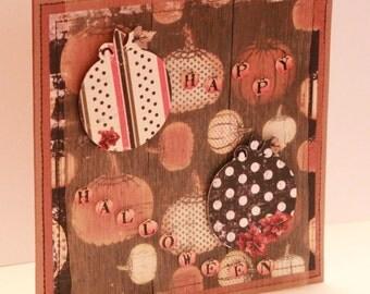 Halloween Card - A Little Vintage Feel Pumpkin Patch -  Handmade Halloween Card