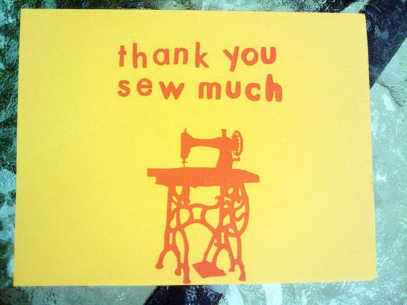 Thank You Note Card Set - Thank You Sew Much (6)