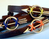 Hunger Games Themed Leather Bracelet for The GIRL ON FIRE