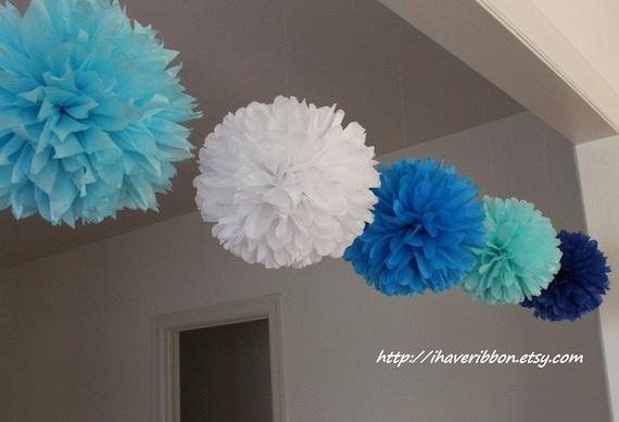 7 pcs 10'' tissue pom poms set, choose your colors