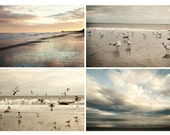 Dreamy Beach photograph - surfside beach - photo set four 5x7 - fine art prints