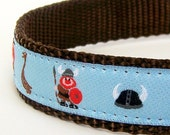 Vikings and Boats Dog Collar on Blue