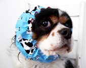 Blue Cows Dog Snood / Cavalier and Cocker Long Ear Covering