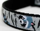 Raccoon and Wildlife Dog Collar / Only size Small Available / Premade