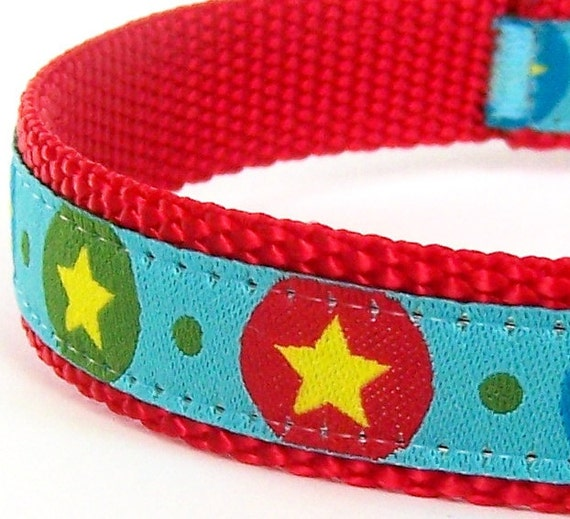 Lucky Star Dog Collar - 100% Donation to Lucky Star Cavalier Rescue / Only Size Small Available Premade