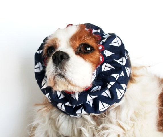 Sailboats Dog Snood / Navy Blue Dog Snood / Preppy / last one