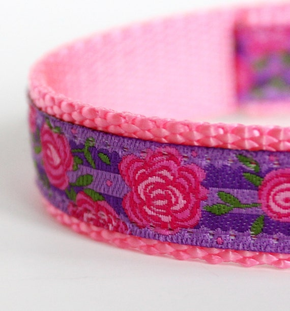 Lavender Shabby Chic Dog Collar