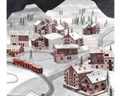 8  x 10 The Longest Train Ride to Zermatt l