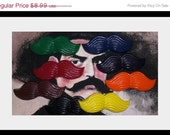 8 Super Cool Handmade Recycled Mustache Crayons. Awesome. Unique. Fun.