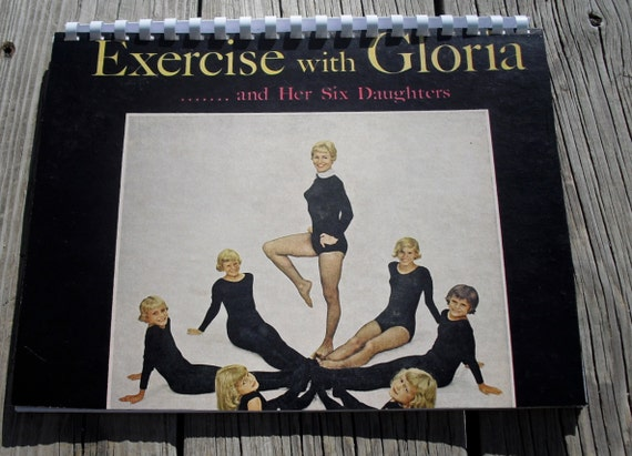 Free Shipping  Weird 1960s Exercise with Gloria and Her Six Daughters Record Album Recycled / Upcycled LP Cover Blank Comb-Bound Journal