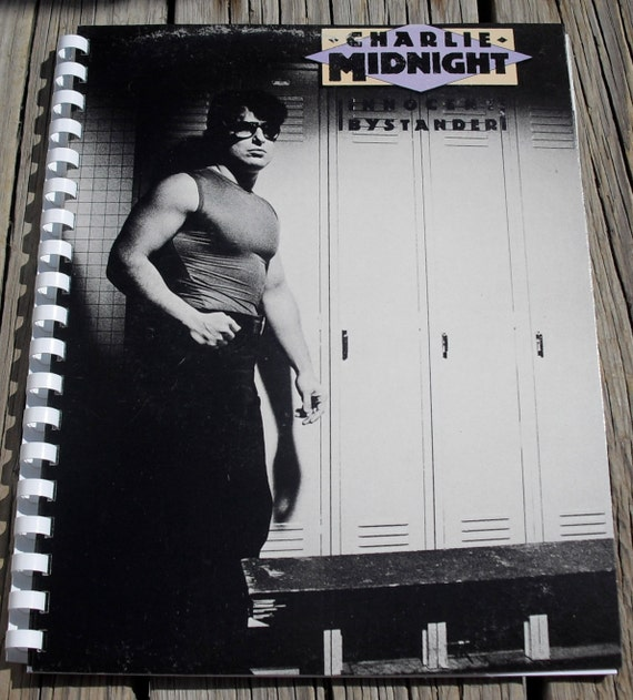 Free Shipping 1980s Charlie Midnight Innocent Bystander Album Recycled / Upcycled LP Cover Blank Comb-Bound Journal