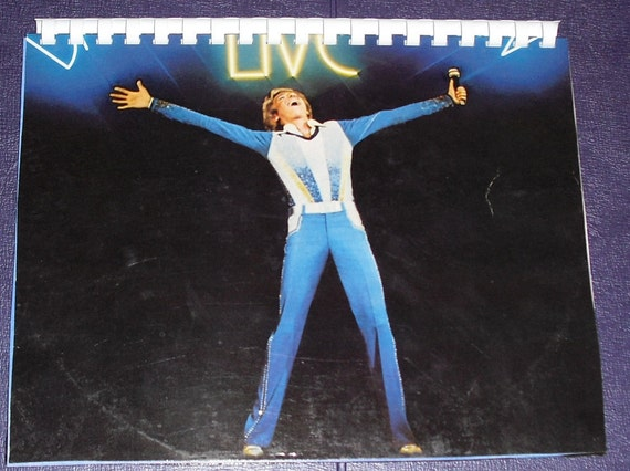 Free Shipping - 1970s Barry Manilow Live Album Recycled / Upcycled LP Cover Blank Comb-Bound Journal
