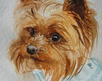 Watercolor Pet Portrait - ACEO