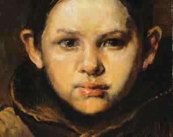 Amo- Oil Painting - child