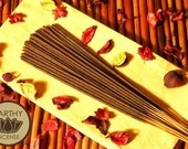 SANDALWOOD Incense Sticks - Hand-Dipped Premium Bamboo Incense - by EARTHY INCENSE