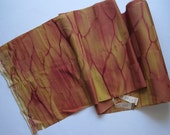 Fiery Shibori Dyed Kimono Silk