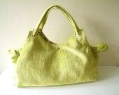 Green Velvet  Bag, Shoulder Bag, Handbag