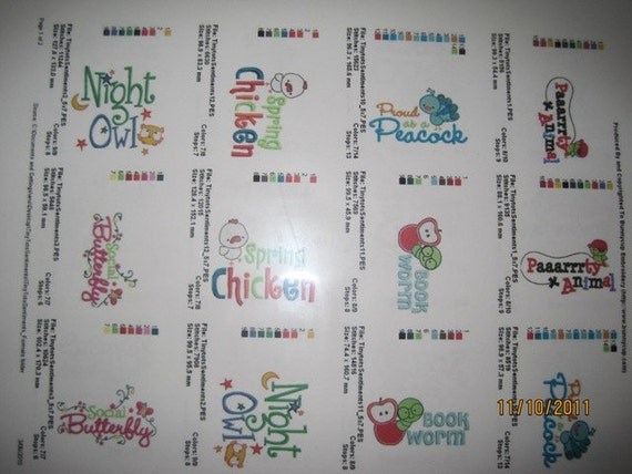 Baby Sentiment Sayings -Embroidery Designs Available