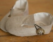 Baby Boy or Girl Shoes Linen Loafers a Favorite Baby Shower Gift, Gender Neutral
