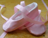 Baby Ballet Slippers Pink Satin