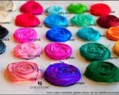 rosette supplies to make your own bouquet set of 10