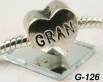 Gran or Gram- European Big Hole Charm