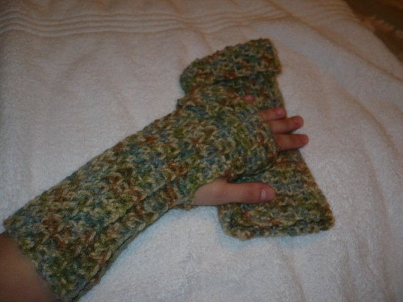 Arm Warmers (Crocheted with thumb hole)