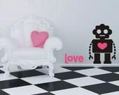 Vinyl Wall Decal Sticker - ROBOT LOVE - Decal Sticker