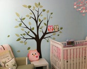 Wall Decals - Owls on a Tree - Baby Nursery Decals