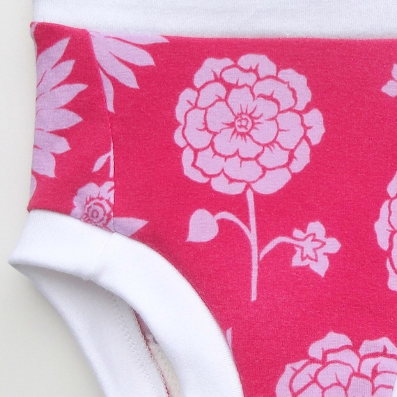 Cloth Training Pants - Convertible - LG Flowers on Pink