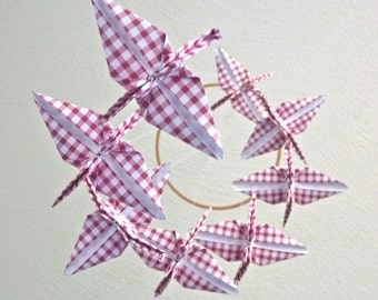 Origami Crane Mobile Baby Mobile Children Decor Baby Nursery Crib Home Decor Unique Bedroom Picnic Eco Friendly