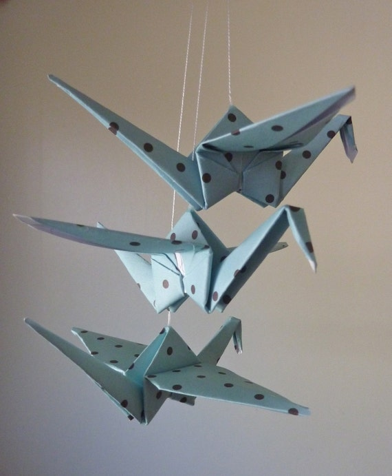 Origami Crane Mobile Baby Mobile Children by ...