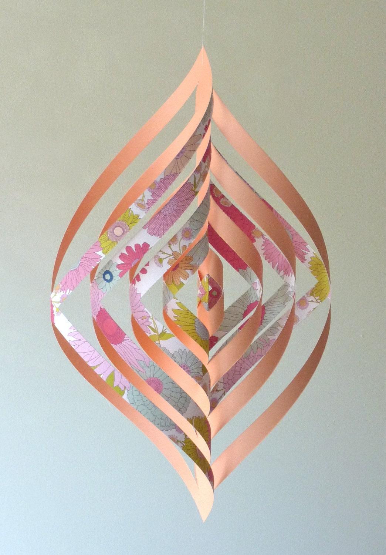 swirly mobile papier d coration maison decor baby nursery teen. Black Bedroom Furniture Sets. Home Design Ideas