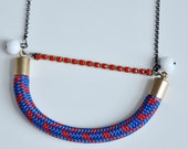 Rope and white beads necklace